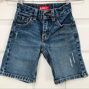 Toddler Levi's 549 shorts with some distressing